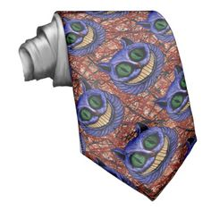 CHESHIRE CAT on MAD DASH ~ Neckwear  Original paintings can be found for sale through my Amazon store at: http://www.amazon.com/shops/artmatrix or you can make direct arrangements for them through me. JMO Zazzle designs: http://www.zazzle.com/thewhippingpost?rf=238063263784323237 To help an artist, you can donate here: http://www.gofundme.com/6am6lg