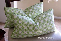 "Annie Selke Citrus Green Lumbar Pillow Cover 12"" x 20"" $30"