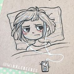August 30th #dailydrawing [Sleepless]. Half the time I'm awake at night because…