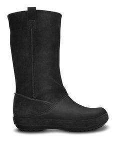 17f2507a6a5 Take a look at this Black Berryessa Boot - Women by Crocs on  zulily today
