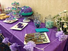Purple and Teal garden baby shower