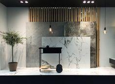 Peronda - Cersaie 2016 Stand Design, Display Design, Booth Design, Tile Showroom, Showroom Design, Exhibition Stall Design, Store Signage, Partition Design, Ceramic Shop