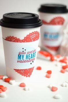 Confetti Sunshine: You Warm My Heart Valentines free printable