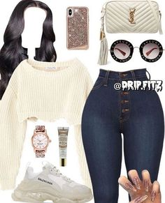 Swag Outfits For Girls, Cute Teen Outfits, Teenage Girl Outfits, Cute Comfy Outfits, Teenager Outfits, Dope Outfits, Teen Fashion Outfits, Stylish Outfits, 90s Fashion