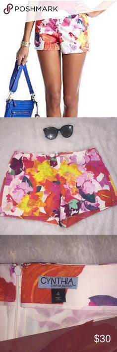 FIRM!!!NWOT Cynthia Rowley beautiful floral shorts NWOT floral shorts. These are so beautiful and perfect for summer time. #May7 Cynthia Rowley Shorts