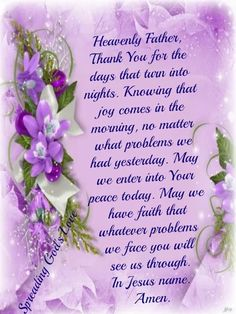 Heavenly Father, Thank You~~J Prayer Verses, Faith Prayer, God Prayer, Prayer Quotes, Bible Verses, Prayer Wall, Prayer Board, Bible Quotes, Inspirational Good Morning Messages