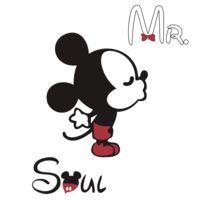 Mickey Kissing Minnie  + Mr. + Soul by daleos
