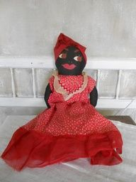 Vintage 1930s Folk Art Black Americana doll