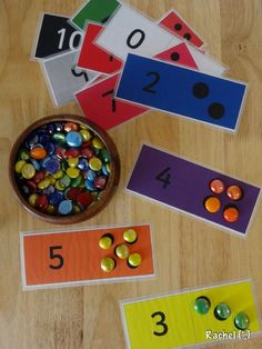 Numeral recognition cards