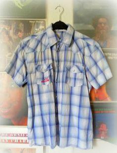 Cooles Herren ID Identity Hemd Kurzarm Gr. L M Herrenhemd Blau Weiß Freizeithemd   eBay