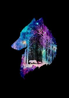 Galaxy Wolf, Galaxy Art, Wolf Wallpaper, Animal Wallpaper, Cute Animal Drawings, Cute Drawings, Wolf Drawings, Native American Wolf, Wolf Artwork