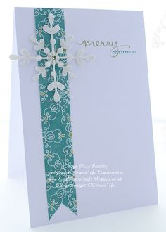 Snowflake Card Thinlit die and All Is Calm DSP with sentiment from Endless Wishes.