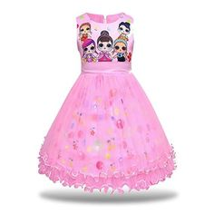 MagJazzy Girls Tutu Princess Dress Doll Digital Print Sleeveless Pageant Gown Dress for LOL Doll Surprised Pink) Tutus For Girls, Girls Dresses, Long Dresses, Dress Long, 7th Birthday Party Ideas, 8th Birthday, Christmas Tutu Dress, Little Girl Tutu, Snow Dress