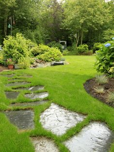 Creative landscape ideas lawn romantic garden path natural stone steps