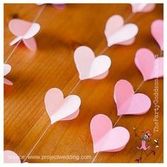 You'll LOVE this heart garland featured in the top 10 DIY ideas pinned to my Valentine's Day Board shared by The Party Goddess, LA's best full service event planner who makes holidays ridiculously fabulous! http://thepartygoddess.com/diy-valentines-day-ideas-youll-love