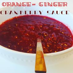 Orange-Ginger Cranberry Sauce
