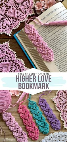 Decorative Bookmarks Free Crochet Patterns In the world of e-books and online magazines, we all appreciate a good old paperback every now and then, don't we? Traditional books call for Marque-pages Au Crochet, Crochet Motifs, Crochet Gifts, Learn To Crochet, Crochet Stitches, Free Crochet, Crochet Baby, Doilies Crochet, Crotchet