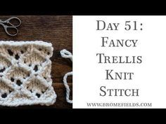 Day 51 : Fancy Trellis Knit Stitch : #100daysofknitstitches – Brome Fields