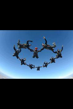Skydive heart