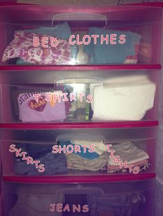 Kid clothes organization