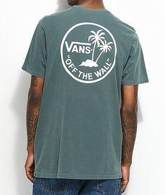 Vans Palm Circle Green & White T-Shirt