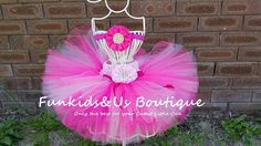 Shade of Pink  Baby Tutu with headband   by FunkidsandUsBoutique