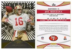 Joe Montana 2013 Panini Certified 180 Immortals Platinum Gold (#11/25)