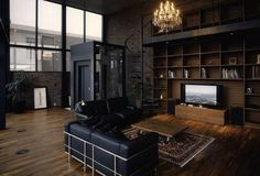 black and brown interior