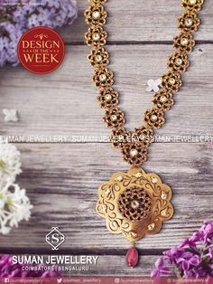 Design of the Week! Timeless #creation for a priceless beauty. Explore more #collection from Suman jewellery.  #stones #fashion #beauty #designs #necklace #pure