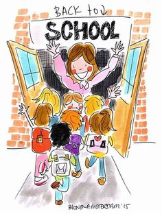 """""""Back to school"""" -Blond Amsterdam 2015 Blond Amsterdam, Amsterdam School, School Murals, Diy Back To School, School Posters, Watercolor Fashion, Art Academy, Scrapbook Journal, E Cards"""