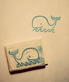 Balena / wale hand-carved rubber stamp ||| DIY, planner, stationery