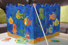 Glücksflügel: DIY: Anleitung für ein Angelspiel aus Holz