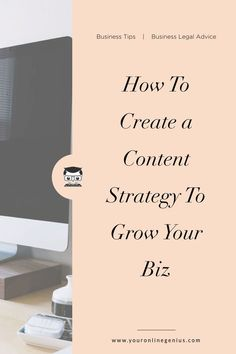 Here is how to create a content strategy to grow your biz and make money from home. Etsy Business, Business Advice, Online Business, Creating A Business Plan, Starting A Business, Make More Money, Make Money From Home, Piano Lessons For Kids, How To Protect Yourself