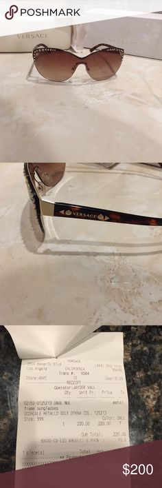Authentic Never been used  Versace sunglasses. Beautiful never been used Versace Sunglasses. Includes everything you see in the picture. Versace Accessories Glasses