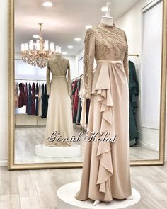 Ideas for dress 2018 casual Hijab Gown, Kebaya Hijab, Hijab Evening Dress, Hijab Dress Party, Hijab Style Dress, Kebaya Dress, Dress Pesta, Kebaya Muslim, Party Gowns