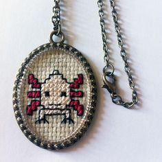 #axolotl #crossstitch #jewelcreator #jewerly #jewels #handcraft #handmade #cross #creator #necklace