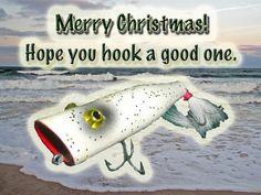 old fishing postcards | ... Christmas Greeting Card - Vintage Saltwater Fishing Lure Photograph