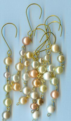 10 Pastel Pearl Icicle Ornaments