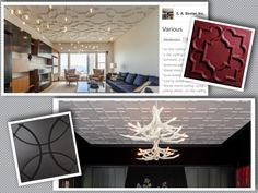Love Fretwork style ceilings but not the extensive time and cost for installation? Check out Ceilume's Victorian and Celestial ceiling tiles as a gorgeous alternative! [Photos courtesy of S.A. Baxter Inc. & John K. Anderson Design]
