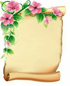 Page Borders Design, Border Design, Frame Background, Paper Background, Boarders And Frames, School Frame, Borders For Paper, Paper Frames, Floral Border