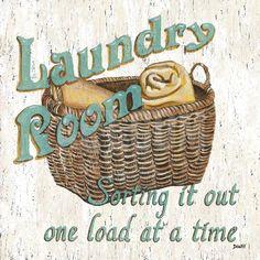 Laundry Room I Art Print by Debbie DeWitt at Art.com