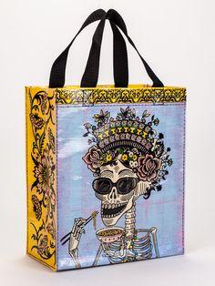 Pretty Bird Blue Q Funny Novelty Shoulder Tote//Reusable Shopping Bag New Gray