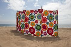 Beach windbreak, but for camping - protection from wind and provides privacy...can make this?