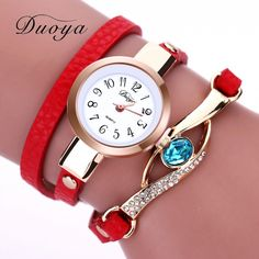 697c39aae58 Moderní dámské hodinky s dárkovou krabičkou červené Na tento produkt se  vztahuje nejen zajímavá sleva