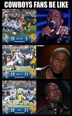 Hilarious.   Green Bay Packers come back for a BIG WIN