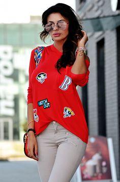 This jumpsuit features soft velvet fabric, single shoulder ruffled neckline, and taper cut legs. Ruffle Jumpsuit, Graphic Sweatshirt, T Shirt, Vogue, Velvet, Legs, Shoulder, Sweatshirts, Fabric