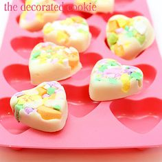 Conversation heart candy bark, cute idea for Valentine's Day!