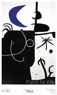 Joan Miró - Dona davant la luna II, 1974
