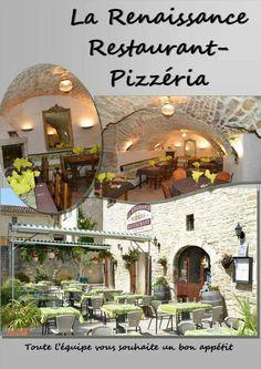 """""""La Renaissance"""" restaurant sympa avec une terrasse très agréable à Barjac (France)"""