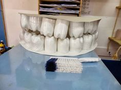 Must remember to make this when talking about oral hygiene! Health Unit, Health Class, Teaching Skills, Primary Teaching, Preschool Science Activities, Preschool Learning, Full Day Kindergarten, People Who Help Us, Oral Hygiene
